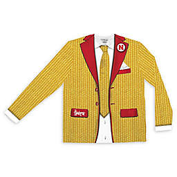 University of Nebraska Men's Faux Corncob Suit Long Sleeve T-Shirt