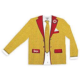 University of Nebraska Men's Faux Corncob Suit Long Sleeve T-Shirt