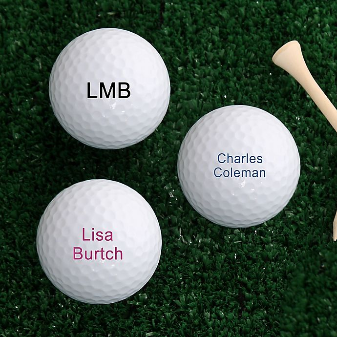 Alternate image 1 for You Name It Golf Balls (Set of 12)