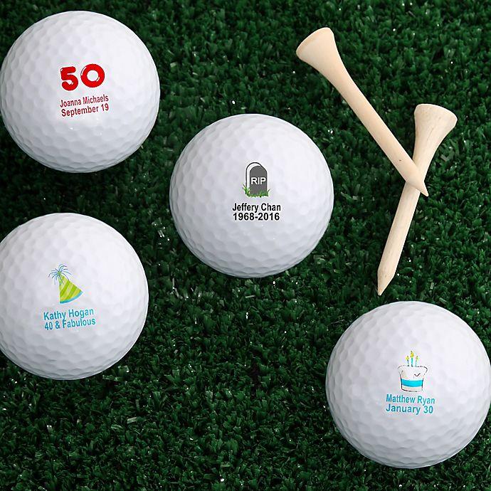 Alternate image 1 for Birthday Cheer Golf Balls (Set of 12)