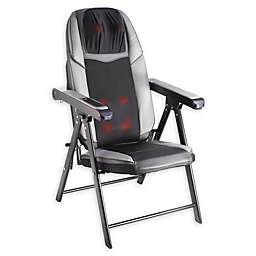 Bruntmore™ Adjustable Folding Shiatsu Massage Chair in Black/Grey