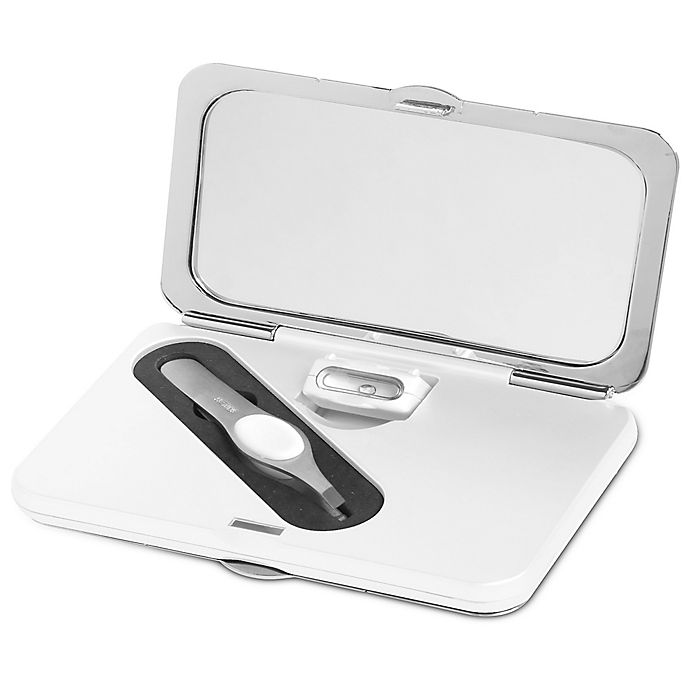 Simply Beauty Smart 1x 7x Compact Lighted Makeup Mirror With Tweezers Bed Bath Beyond