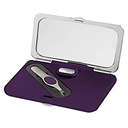Simply Beauty Smart 1x/7x Compact Lighted Makeup Mirror with Tweezers