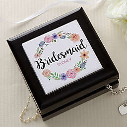 Floral Wreath Bridal Jewelry Box
