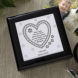 Pawprints On My Heart Memorial Keepsake Box
