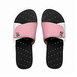AquaFlops Women's Slide Shower Shoes in Black/Pink