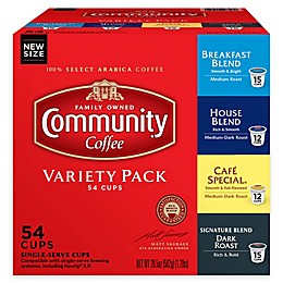Community Coffee® Premium Variety Pack Pods for Single Serve Coffee Makers 54-Count