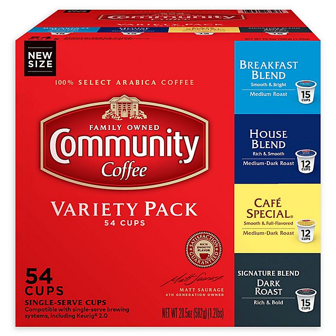 Alternate image 1 for 54-Count Community Coffee® Premium Variety Pack for Single Serve Coffee Makers