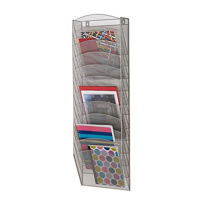 Alternate image 1 for 12-Tier Mesh Wall Pockets Organizer in Silver