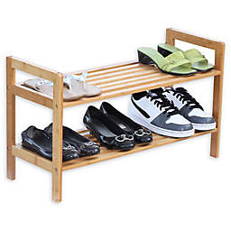 Oceanstar 2-Tier Bamboo Shoe Rack in Natural
