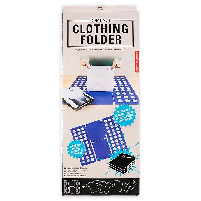 Alternate image 1 for Kikkerland Design™ Compact Clothing Folder in Blue