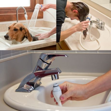 Rinse Ace Sink Faucet Rinser With Detachable 3 Hose Bed