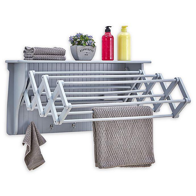 Alternate image 1 for Danya B. Accordian Drying Rack in Grey