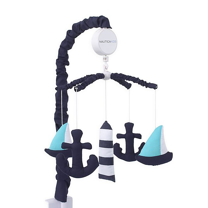Alternate image 1 for Nautica Kids® Set Sail Musical Mobile in Navy