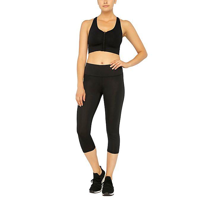 Alternate image 1 for Copper Fit® Essential Energy Capri Leggings in Black