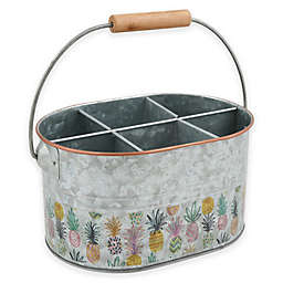 Thirstystone® Pineapple Party Galvanized Flatware Caddy