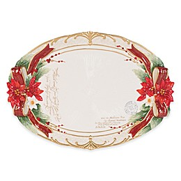 Fitz and Floyd® Cardinal Christmas 18.75-Inch Oval Platter