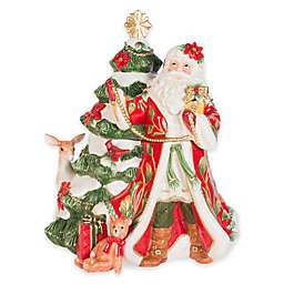 Fitz and Floyd® Cardinal Christmas Santa Cookie Jar