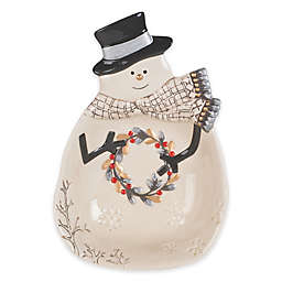 Fitz and Floyd® Wintry Woods Snowman Serving Bowl