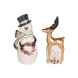 Fitz and Floyd® Wintry Woods Snowman Salt and Pepper Shakers