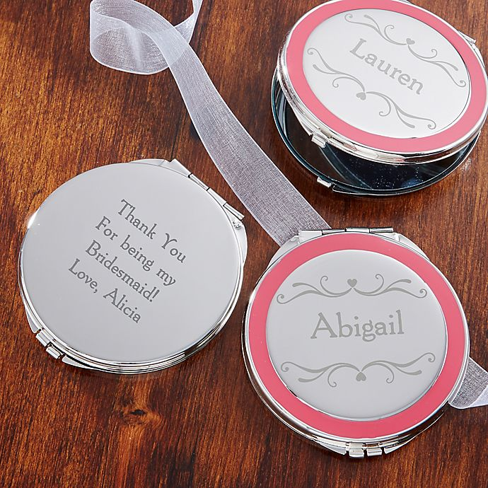Alternate image 1 for Bridal Party Engraved Compact Mirror