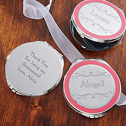 Bridal Party Engraved Compact Mirror