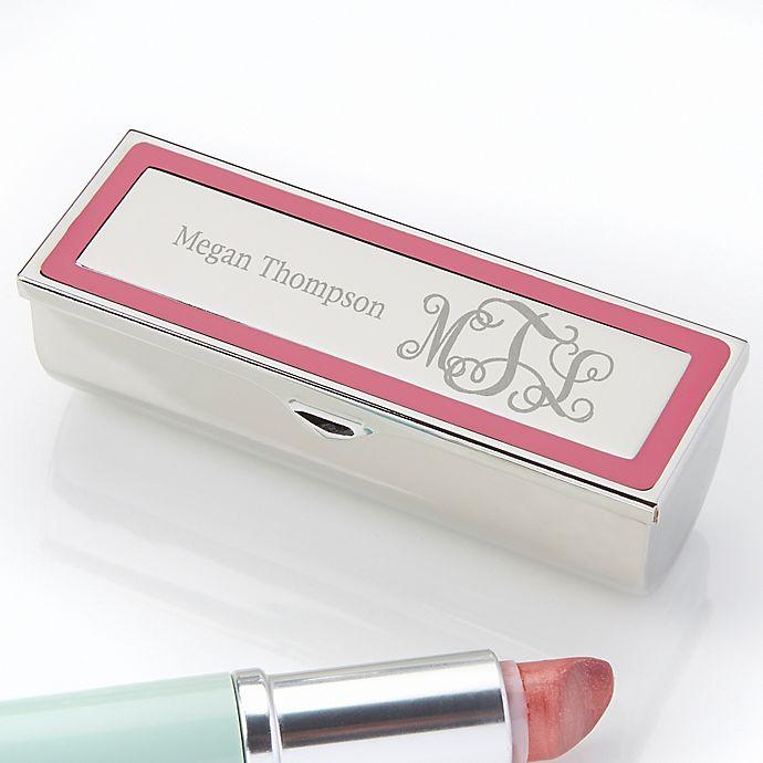 Alternate image 1 for Curly Monogram Engraved Lipstick Case