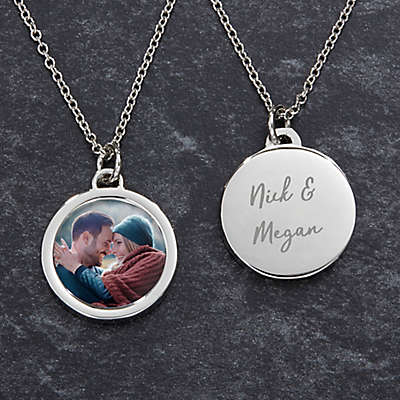 Couples Photo 18-Inch Round Necklace