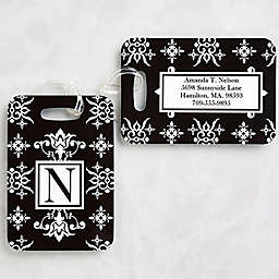Damask Luggage Tags (Set of 2)