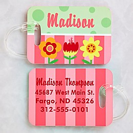 Pretty Flowers Luggage Tags (Set of 2)