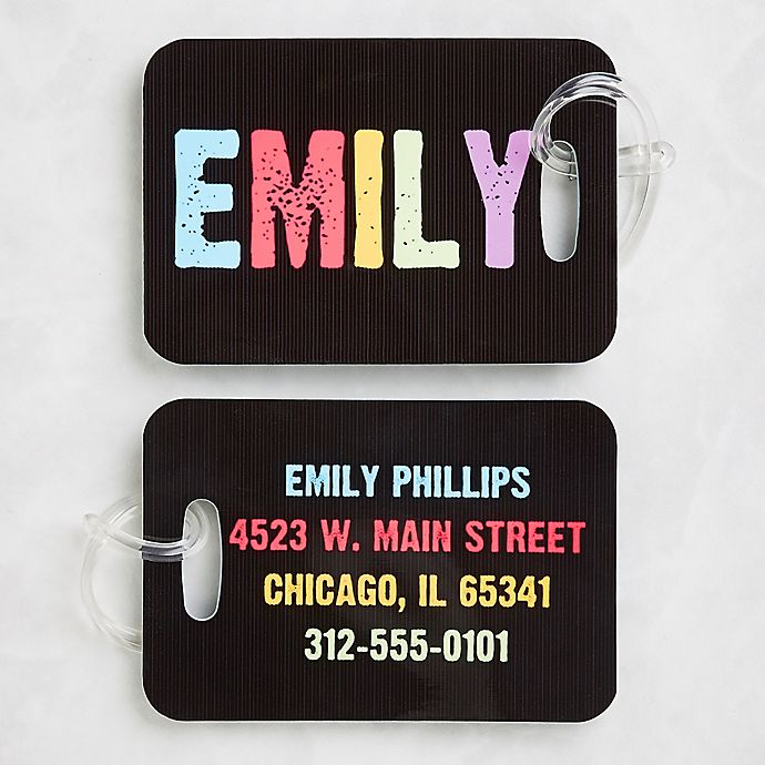 Alternate image 1 for All Mine! Luggage Tags (Set of 2)