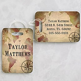 World Map Luggage Tags (Set of 2)