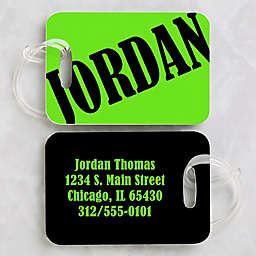 Neon Luggage Tags (Set of 2)