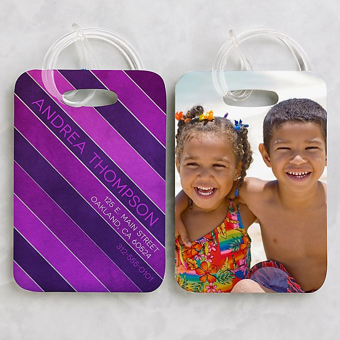 Alternate image 1 for Photo Luggage Tags (Set of 2)