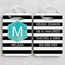 Modern Stripe Luggage Tags (Set of 2)