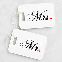 Mr. and Mrs. Luggage Tags (Set of 2)