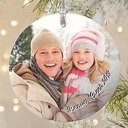 Precious Memories Round Matte Photo Christmas Ornament