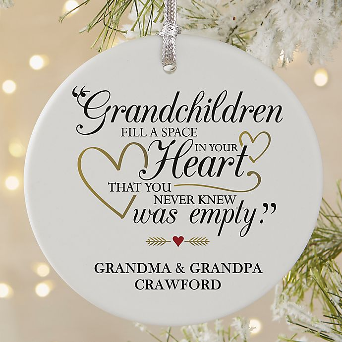 Alternate image 1 for Grandparents Are Special Round Matte Christmas Ornament