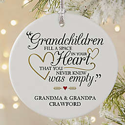 Grandparents Are Special Round Matte Christmas Ornament