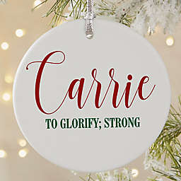 Name Meaning Round Matte Ornament