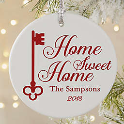 Home Sweet Home Round Matte Christmas Ornament