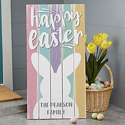 Easter Wood Standing Sign