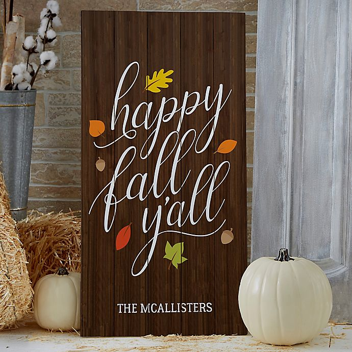 Happy Fall Y All Standing Wood Sign Bed Bath Beyond