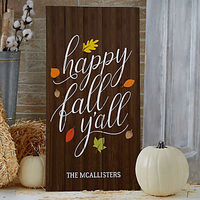 Happy Fall Y'All Standing Wood Sign