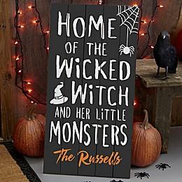 Home Of… Halloween Standing Wood Sign