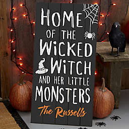 Home Of… Halloween Standing Wood Sign