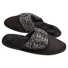 Loft Living Memory Foam Suede Scuff Slipper in Black