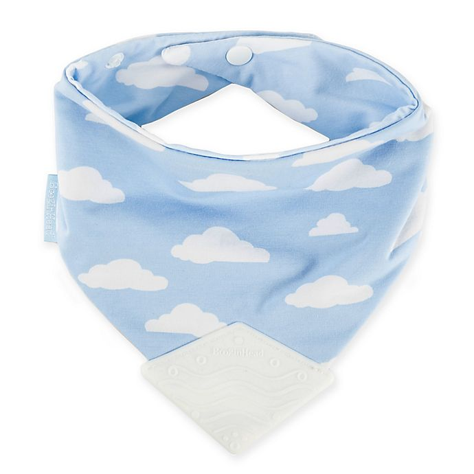 Alternate image 1 for BooginHead Clouds Teether Bib in Blue/White