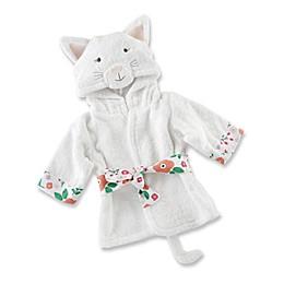 Baby Aspen Size 0-9M Cat Hooded Robe in White