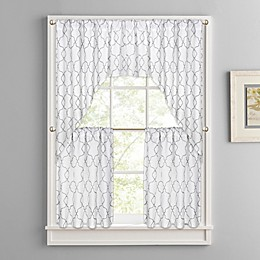 Colordrift Mandy Rod Pocket Window Curtain Tier Panels, Swag and Valance